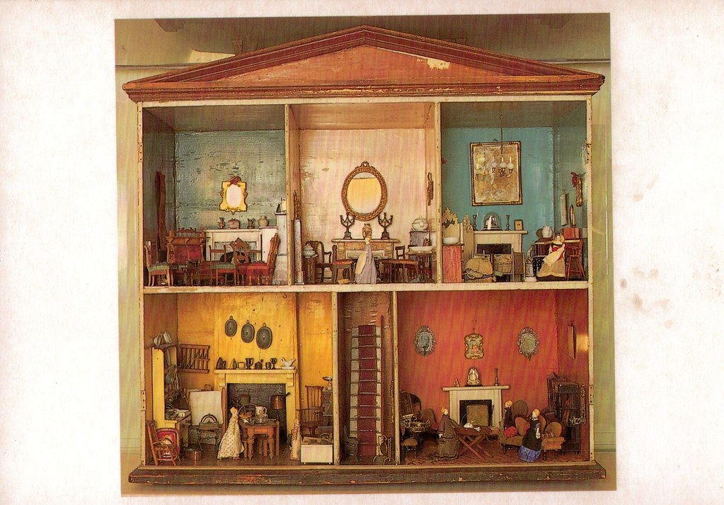 A Victorian Dolls House c.1880 in The Gunnersbury Museum