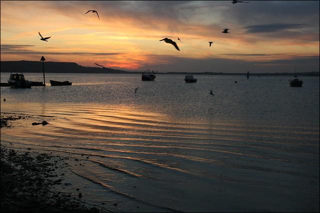 Sunset over Christchurch Harbour, Dorset