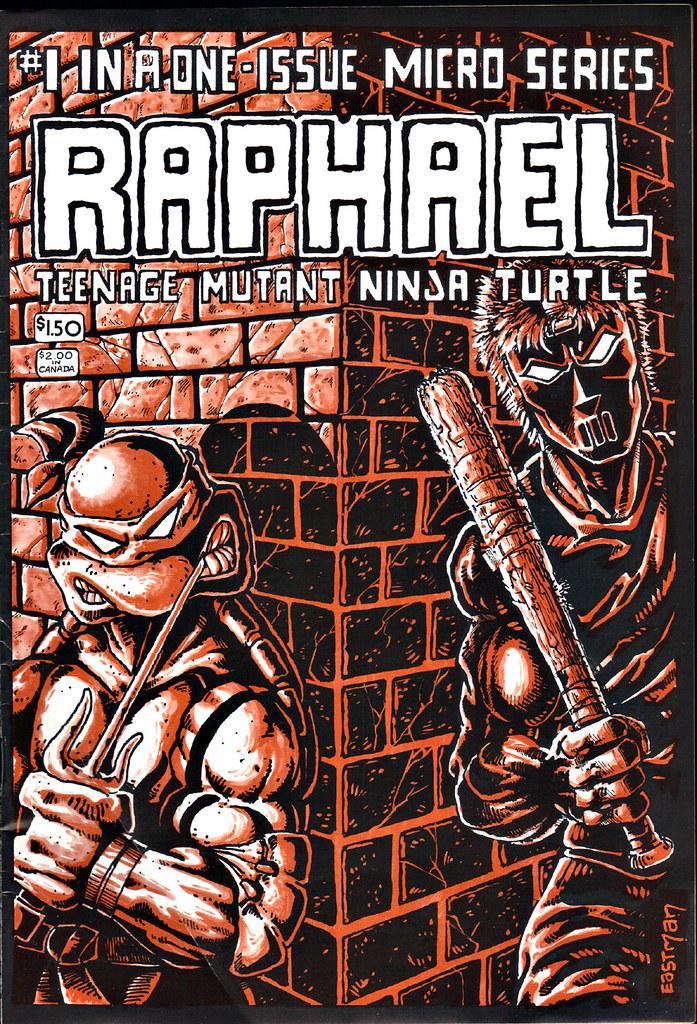 RAPHAEL, TEENAGE MUTANT NINJA TURTLE #1  { ORIGINAL MICRO SERIES } i // Front cover art by Eastman (( 1985 )) by tOkKa