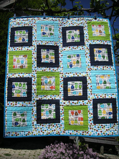 Owls and Spots Baby Quilt | by TheElvenGarden