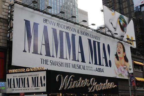 Mamma Mia Marquee @ Winter Garden Theatre on Broadway | by BroadwayTour.net