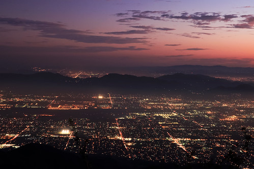 city longexposure night canon landscape outdoors lights view scenic nationalforest nighttime 5d southerncalifornia markii inlandempire sanbernardinomountains transverserange