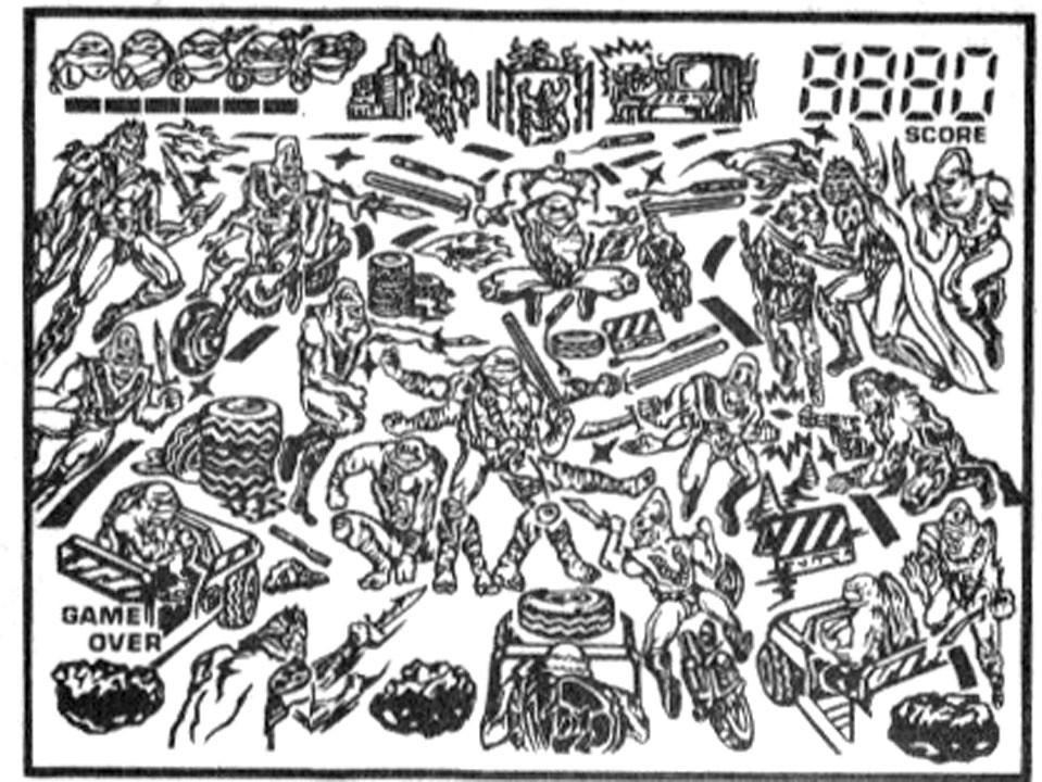 "TIGER ELECTRONICS :: ""NINJA TURTLES: THE NEXT MUTATION"" ELECTRONIC LCD GAME ..INSTRUCTION MANUAL  pg.13 / RESET DIAGRAM (( 1998 )) by tOkKa"