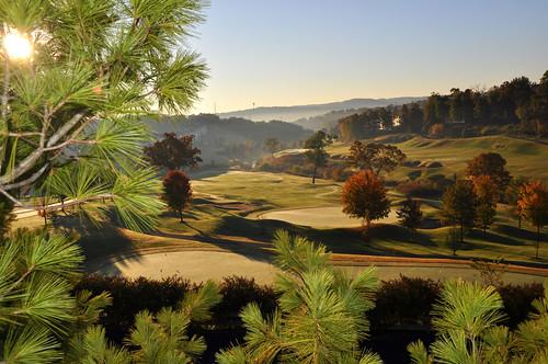 morning mist sunrise golf hills missouri golfcourse branson thousand bransonmissouri thousandhills