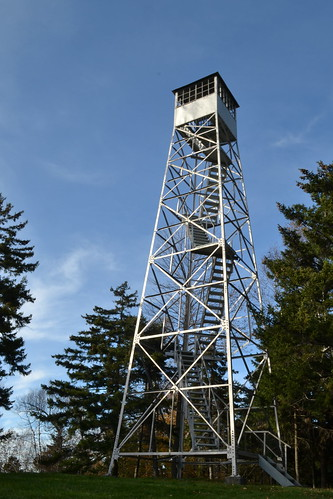 park trip autumn color tower fall stairs aluminum vermont state steel foliage evergreen brookfield tall vt steep allis