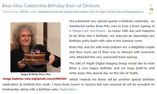 Brian May on Isle of Wight at Dimbola