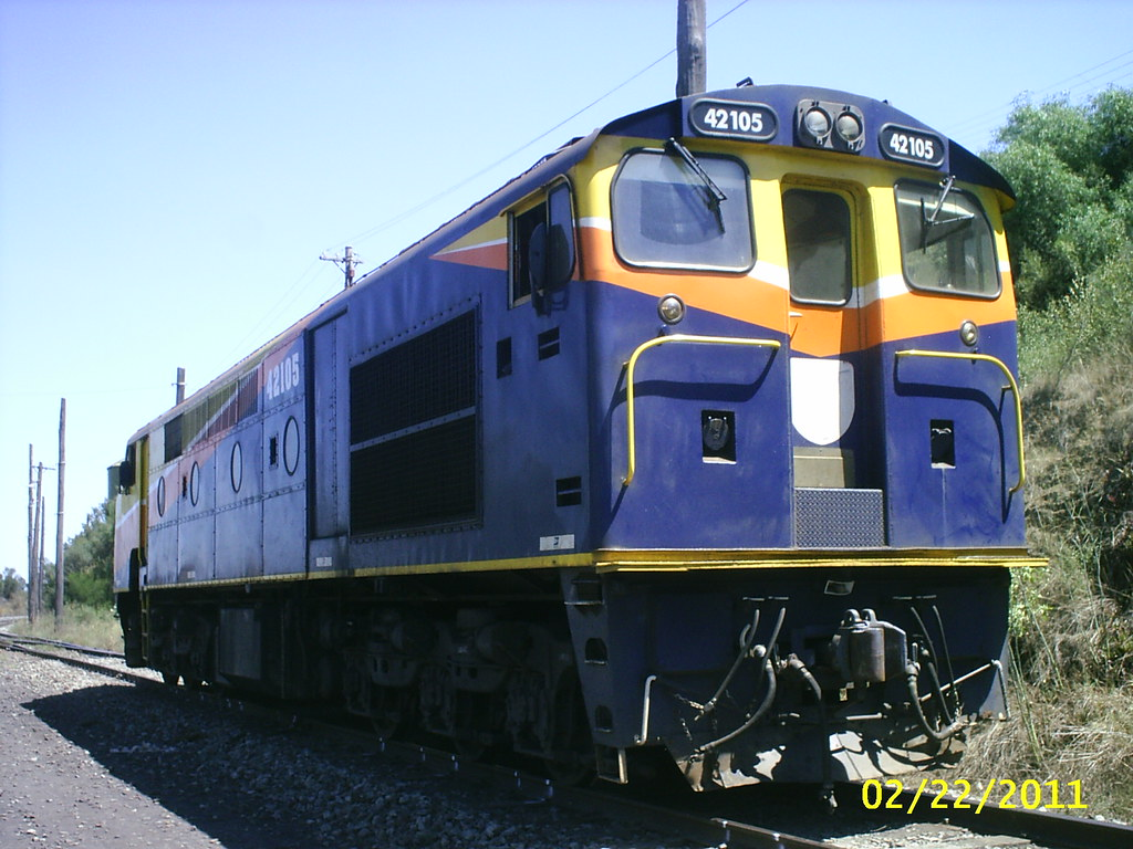 No2 end of Interails AJ16C 42105 at Yennora,NSW
