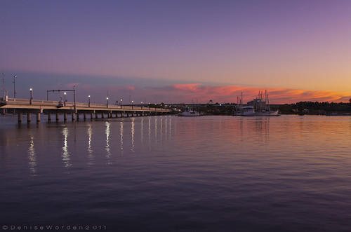 bridge sunset sun nature water marina canon river landscape boats nc newbern trentriver 450d imaginefotocom