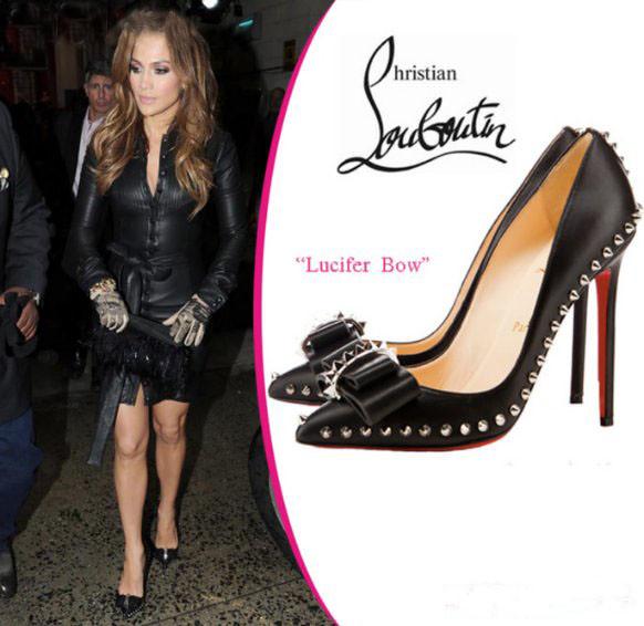 on sale 7bed6 a958a Jennifer Lopez- Christian Louboutin- Black Pumps Lucifer B ...