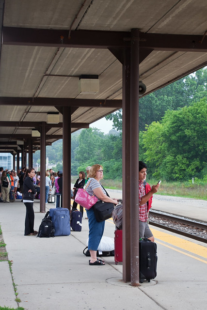 Waiting for the Train at the Ann Arbor Amtrak Station