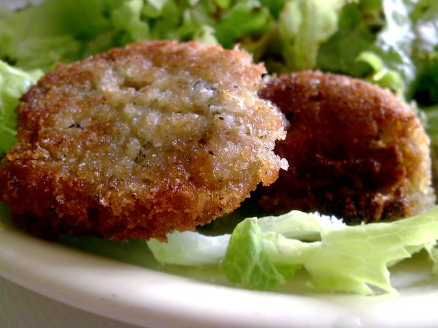 Rice-leftovers fritters / Croquetas de arroz
