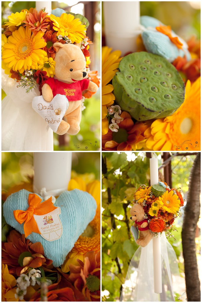 Christening Candle Winnie The Pooh Lumanare Botez Flickr