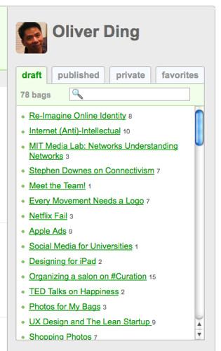 Quick-access box at sidebar - Personal Homepage - BagTheWeb - 102011 - 1
