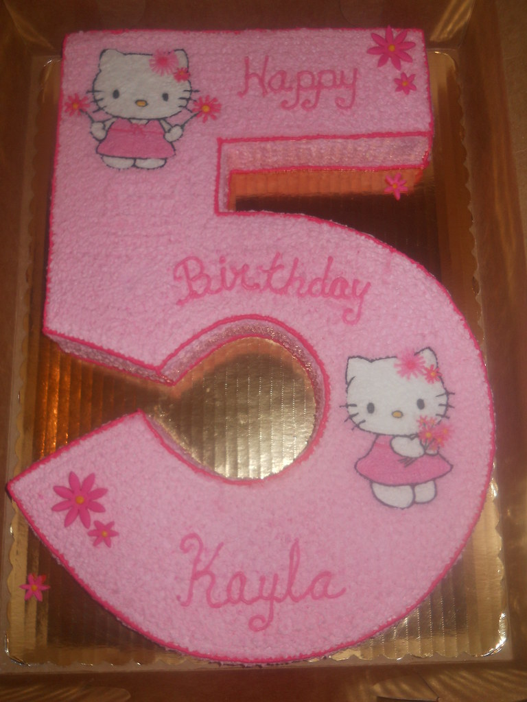 Number 5 Cake Hello Kitty Them Number Five Cake Monica