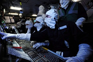 Operations Room Staff Onboard HMS Illustrious During an Exercise | by Defence Images