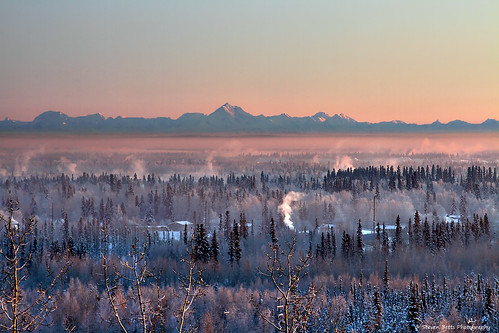 Alaska Range from UAF | by Steven Betts