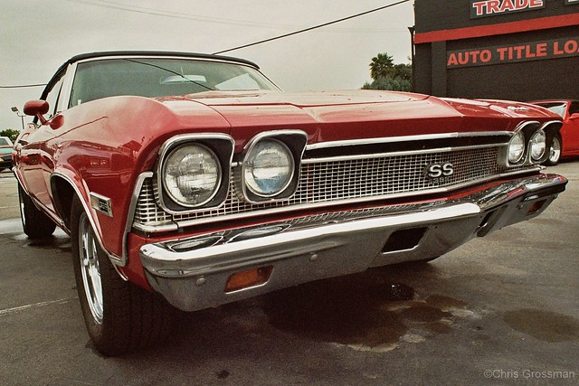 1968 Chevelle SS 2 door Red Convertible - Ricoh Singlex - Nikkor-UD 20mm F/3.5 - Ultramax 400