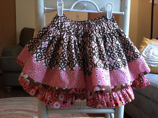 Pink & Brown Edith Twirl Skirt
