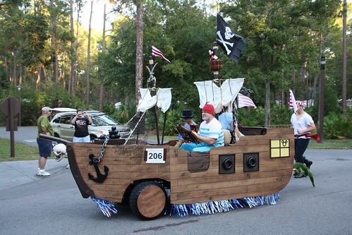 Pirate Ship Golf Cart in Parade | by Curb Crusher