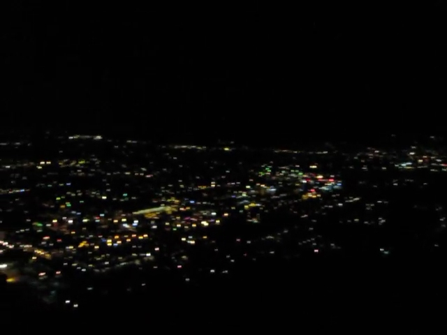 008 Skyline Trail 900ft - Night Video - Lights of Palm Springs