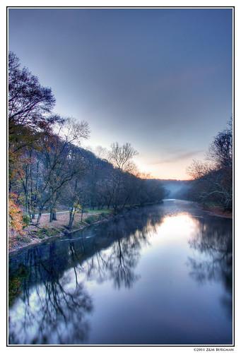morning autumn reflection fall water fog creek sunrise landscape scenic delaware wilmington hdr brandywine brandywinecreekstatepark brandywinevalley brandywinecreek