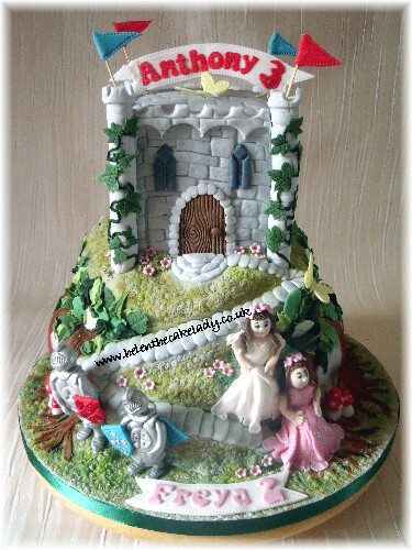 Incredible Knights Princess Castle Birthday Cake I Created This Cas Flickr Funny Birthday Cards Online Eattedamsfinfo