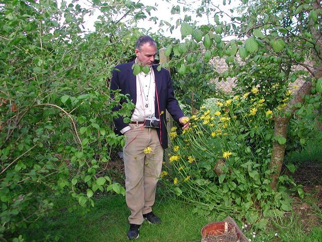 Botanist in the garden