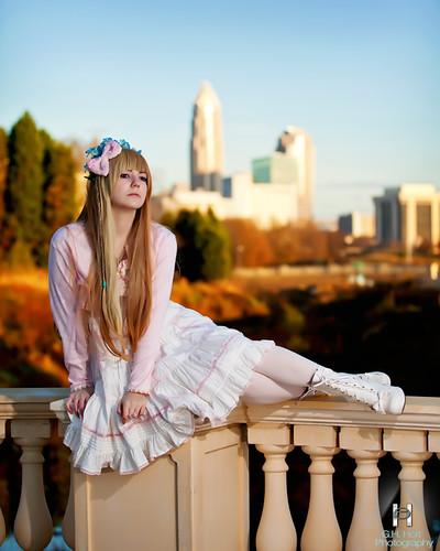 portrait female sunrise nc model charlotte uptown ghholtphotography gracevalentine