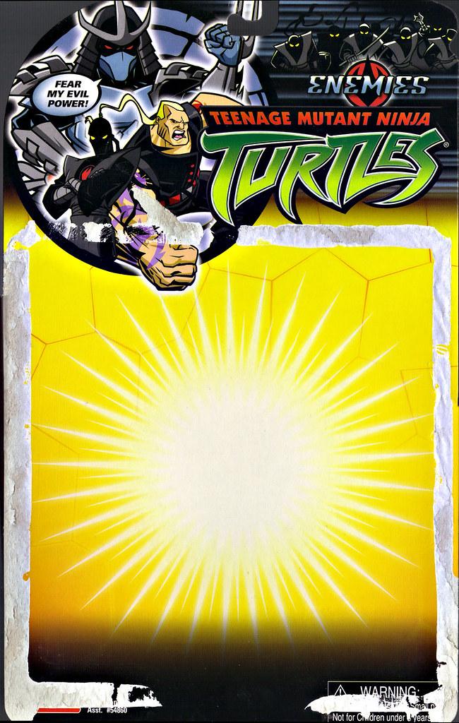 TEENAGE MUTANT NINJA TURTLES::  BAXTER ROBOT .. card backer i (( 2006 )) by tOkKa