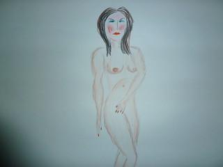 Life drawing   by celf o gwmpas