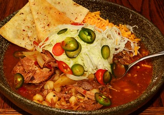 Mmm... posole and some garnishes | by jeffreyw