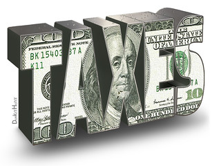 Taxes - Illustration | by DonkeyHotey