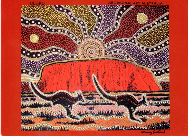 This Painting Of Uluru Is By Famous Aboriginal Artist Dann Flickr