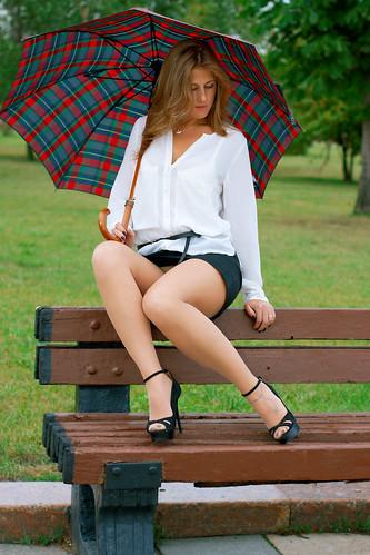 "Anya Bo, summer dull day in Moscow | ""Very short skirt ..."
