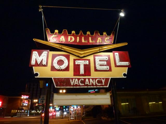 Niagara Falls, ON Cadillac Motel sign