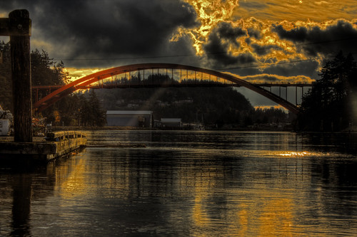 sunset storm reflection water sunrise washingtonstate hdr rainbowbridge laconner skagitcounty fidalgoisland canon600d mygearandme mygearandmepremium mygearandmebronze mygearandmesilver mygearandmegold mygearandmeplatinum mygearandmediamond canoneosrebelt3i laconnerslough