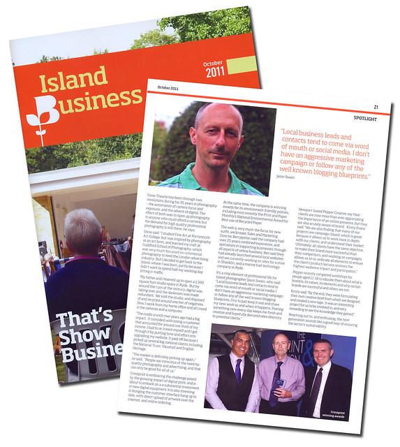 Island Business Magazine - October 2011