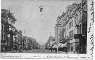 Lackawanna Ave, Looking West from Washington Ave 24 July 1906