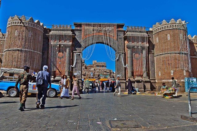 port Bab Al Yemen, the entrance to the historic city center, yemen
