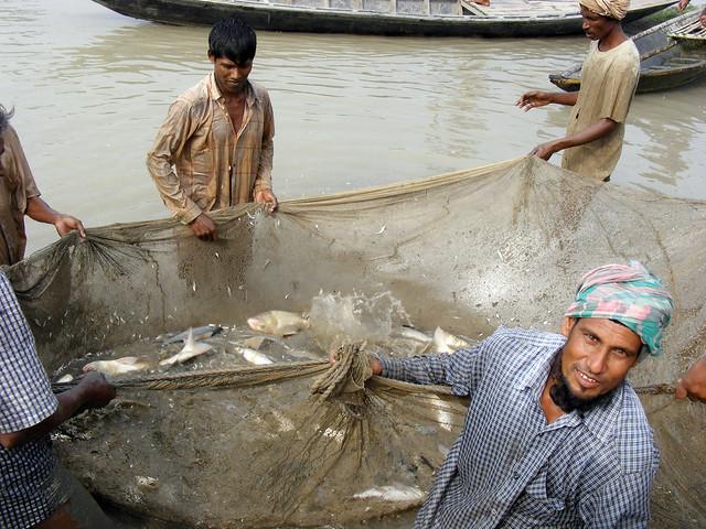 Aquaculture, Bangladesh. Photo by Martin van Brakel, 2007