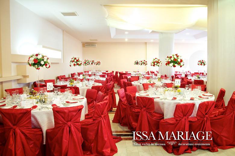 Organizare Nunta Rosu Cu Alb Issamariage La Restaurant Nov Flickr