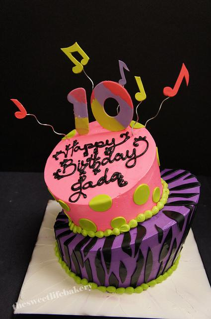 Phenomenal Musical 10Th Birthday Cake Sweet Life Flickr Funny Birthday Cards Online Alyptdamsfinfo