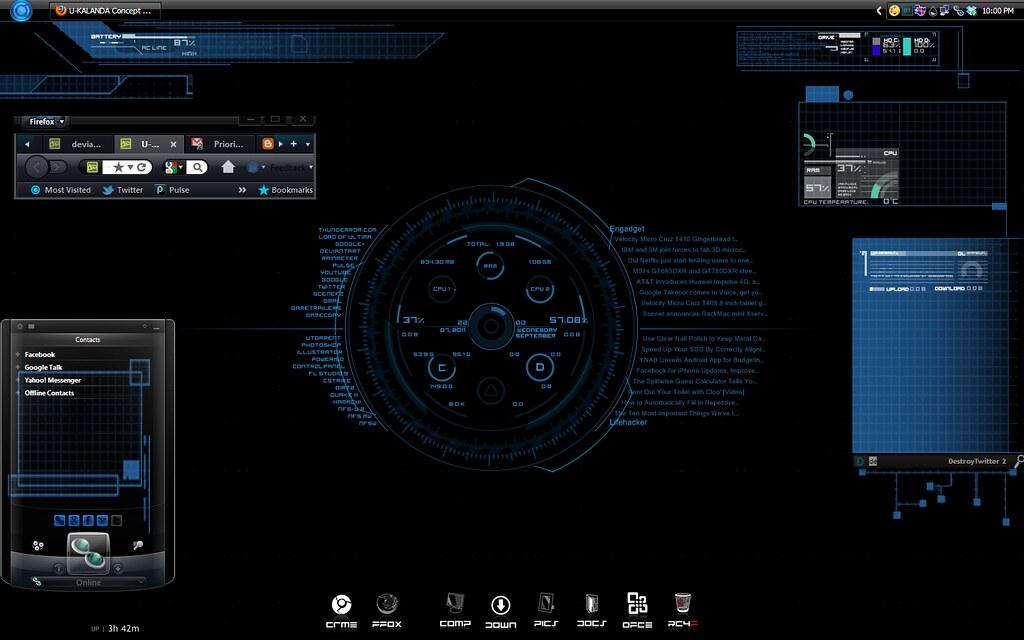 Ironman JARVIS desktop | The most sophisticated desktop I've… | Flickr