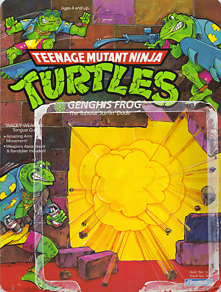 TEENAGE MUTANT NINJA TURTLES :: GENGHIS FROG .. card backer i (( 1989 )) by tOkKa
