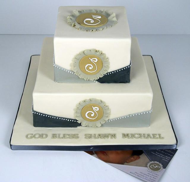 ivory christening cake toronto