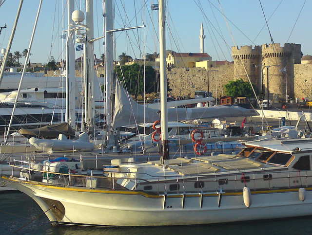 Sailing Boats - Rhodes Harbour