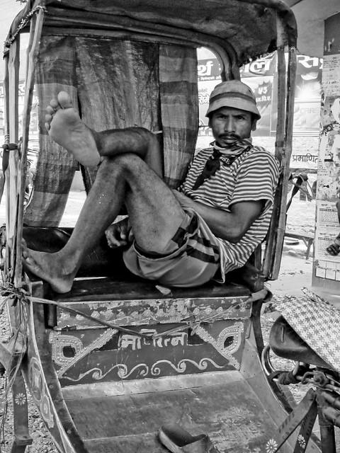 Riksha driver in Butwal Nepal