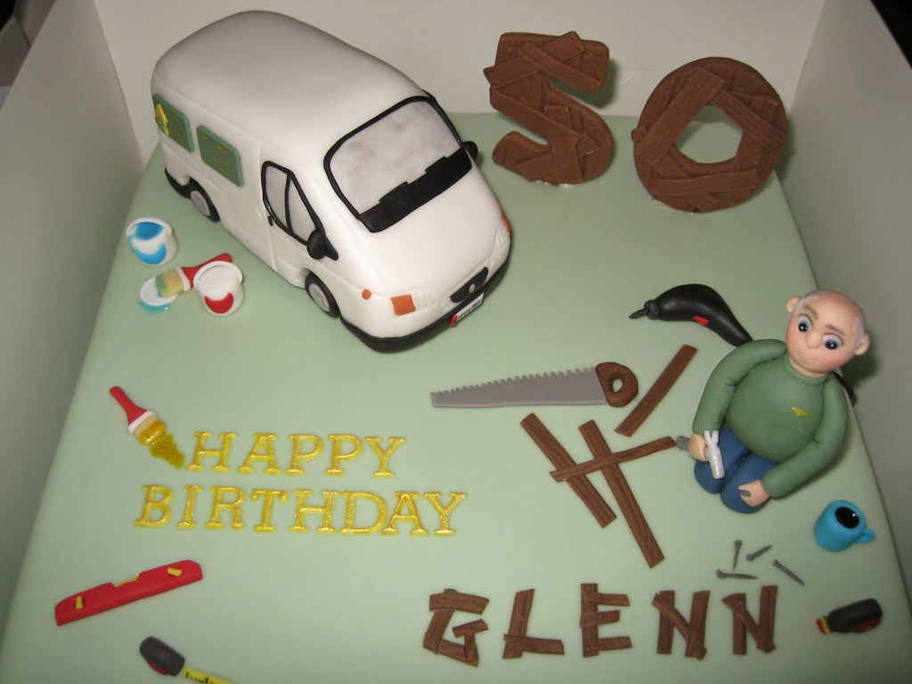 Remarkable Maintenance Man Birthday Cake Cake With Age Fixed On Flickr Funny Birthday Cards Online Chimdamsfinfo