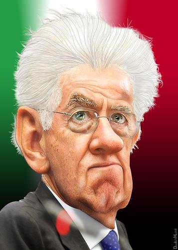 Mario Monti - Caricature   by DonkeyHotey