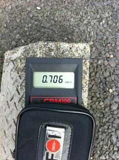 Safecast Probe 0006 JP Misato-shi Ground 0.706 uSV/hr